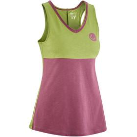 Edelrid Pof - Camisa sin mangas Mujer - verde/rosa